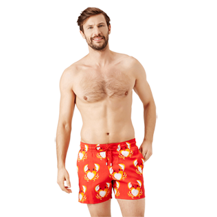 Men Stretch classic Printed - Men Swimwear Stretch St Valentin 2020, Medicis red frontworn