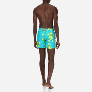 Men Classic Printed - Men Swimtrunks Mosaic Turtles, Curacao backworn