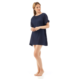 Women Dresses Solid - Solid Cover-up Dress, Navy supp6