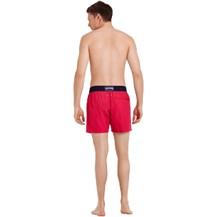 Men Ultra-light classique Solid - Men Swim Trunks Ultra-light and packable Bicolor, Gooseberry red backworn