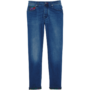 Hombre Autros Estampado - Men Jeans Tropical Turtles, Med denim w2 front