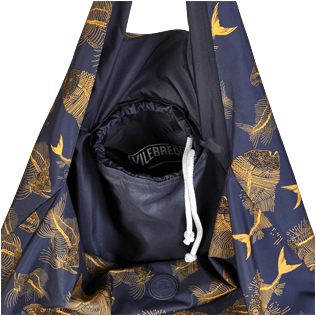 Others Printed - Oversize Packable Bag Prehistoric Fish, Navy supp2