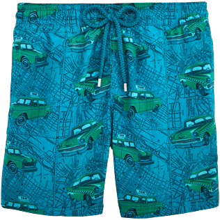Men Classic / Moorea Printed - Dip Dye Taxis Swim shorts, Prussian blue front