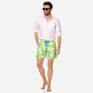 Men Classic Printed - Men Swimwear Surfing Turtles, Aloe supp2