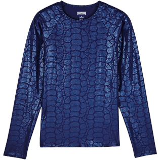 Women Others Printed - Women Rashguard Shell Turtles, Navy front
