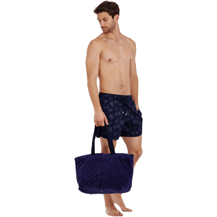 Homme CLASSIQUE STRETCH Imprimé - Maillot de bain homme Stretch Diamond Turtles, Bleu marine supp2