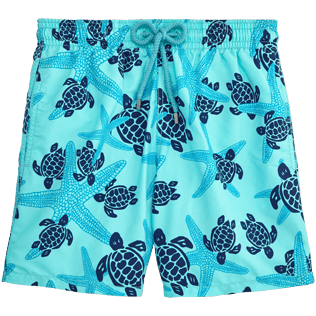 Men Classic / Moorea Printed - Starlettes & Turtles Swim shorts, Lagoon front