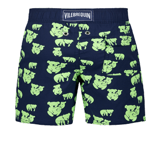 Boys Others Printed - Boys Glow in the dark Stretch swimtrunks Sydney, Navy back