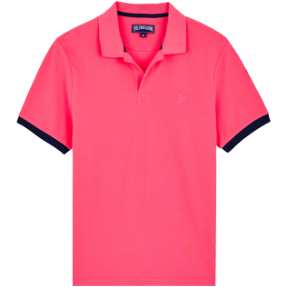 Men Others Solid - Men Cotton Polo Shirt Solid, Cherry blossom front