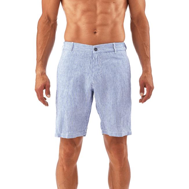 Vilebrequin - Bermudas rectas con estampado Micro Stripes - 6