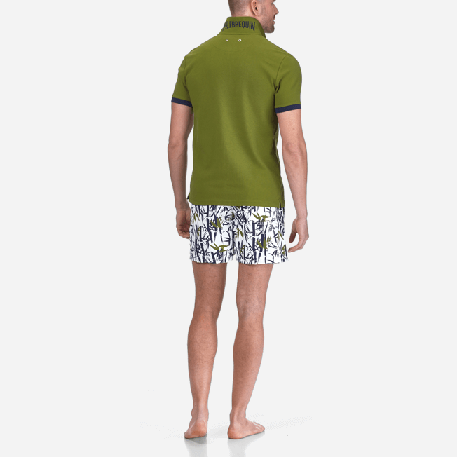 Vilebrequin - Polo en Piqué de Coton Homme Uni - 8