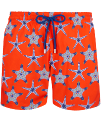 Men Stretch classic Printed - Men Swimwear Stretch Starfish Dance, Medlar front