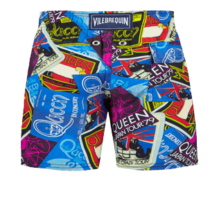Boys Others Printed - Boys Stretch swimtrunks Queen Tour, Sea blue back