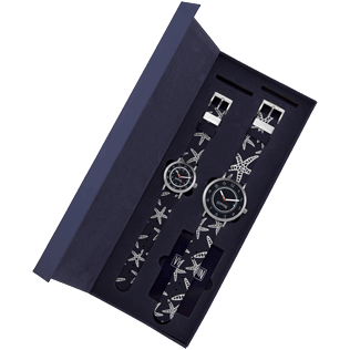 050 Printed - Father and Son set Starfish Watches, Navy front