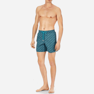 Men Classic Printed - Men Swimtrunks Micro ronde des tortues, Spray frontworn