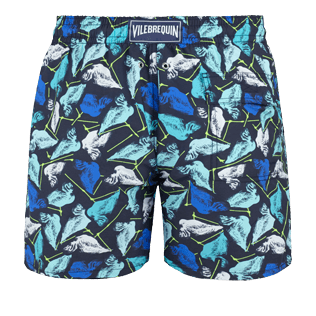 Men Classic Printed - Men Swimtrunks Baha Mar designed by John Cox - Limited Edition, Navy back
