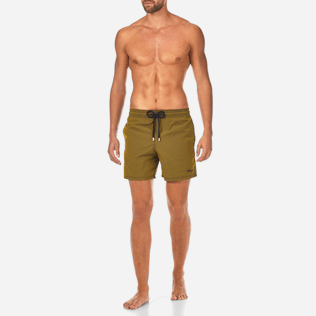 Men Classic / Moorea Graphic - Micro Rayures Graphic Swim shorts, Turmeric frontworn