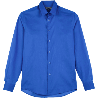 Others Solid - Unisex Cotton Voile Light Shirt Solid, Sea blue front