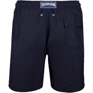 Men Long classic Solid - Solid Long Cut Swim shorts, Navy back