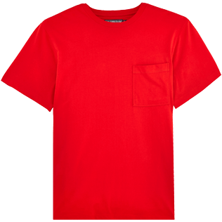 Men Tee-Shirts Solid - Men Pima Cotton Jersey T-shirt Solid, Poppy red front