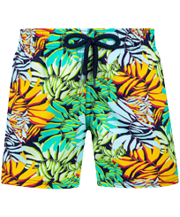 Boys Others Printed - Boys Swim Trunks Stretch Jungle, Midnight blue front