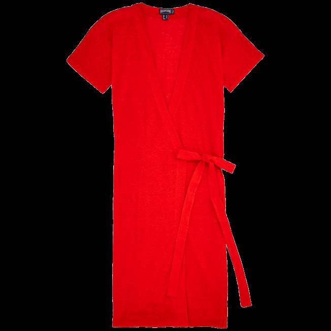 Vilebrequin - Robe Portefeuille Lin Unie - 1