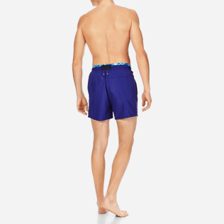 Men Ultra-light classique Solid - Men Lightweight and Packable Swimwear Solid and Splash, Neptune blue backworn