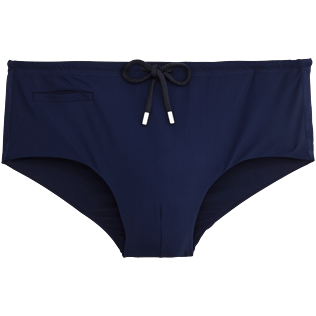 Men Fitted Solid - Smoking Tuxedo swim briefs, Navy front