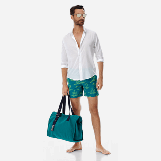 Men Embroidered Embroidered - Men Embroidered swimtrunks St Tropez - Limited Edition, Pine wood supp2