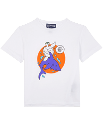 Boys Others Printed - Boys Organic Cotton T-shirt Let's Take A Ride !, White front