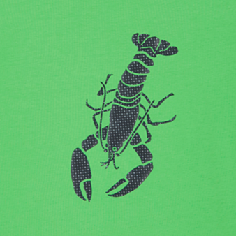 男士 Lobster 3D 纯棉 T 恤, Grass green pattern