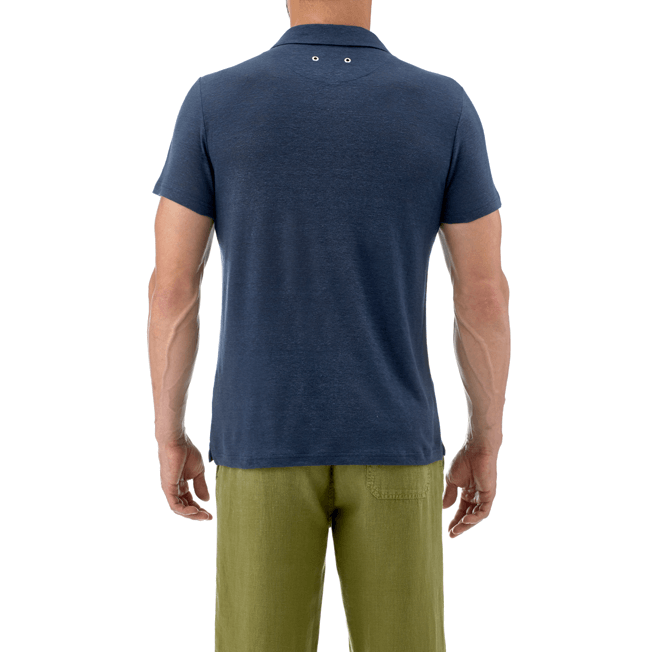 Vilebrequin - Solid Linen jersey polo - 7