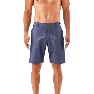 Men Shorts Solid - Solid Straight bermuda, Jeans blue supp2