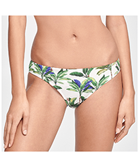 Women Classic brief Printed - Women Bikini Bottom Brief Palms, White front