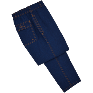 Men Others Solid - Indigo Pants, Indigo front
