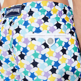Men 017 Embroidered - Men Swim Trunks Embroidered - Limited Edition, White supp3