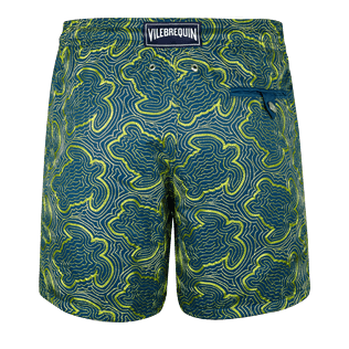 Men Embroidered Embroidered - Men Swimtrunks Embroidered Hypnotic Turtles - Limited Edition, Spray back
