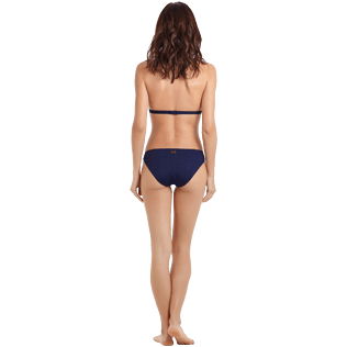 Women Classic brief Solid - Women brief to be tied bikini Bottom Ecailles de tortues, Midnight blue backworn