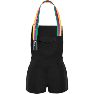 Women Others Solid - Women bloack short jumpsuit Rainbow - Vilebrequin x JCC+ - Limited Edition, Black front