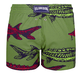 Men Short classic Printed - Men short and fitted stretch swimtrunks Belle ou Gars, Cactus back