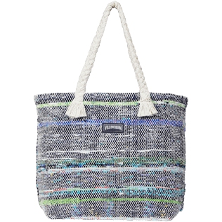 Others Printed - Large Beach Bag Eco-friendly, Blue front