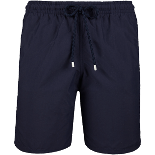 Men Long Solid - Solid Long Cut Swim shorts, Navy front