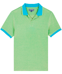 Men Others Solid - Men Changing Cotton Pique Polo Shirt Solid, Light azure front