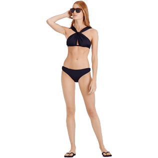 Women Classic brief Solid - Women Midi Brief Bikini Bottom Solid, Black supp2