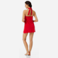 Women Others Solid - Women Terry cloth Halter Dress Solid, Red polish backworn