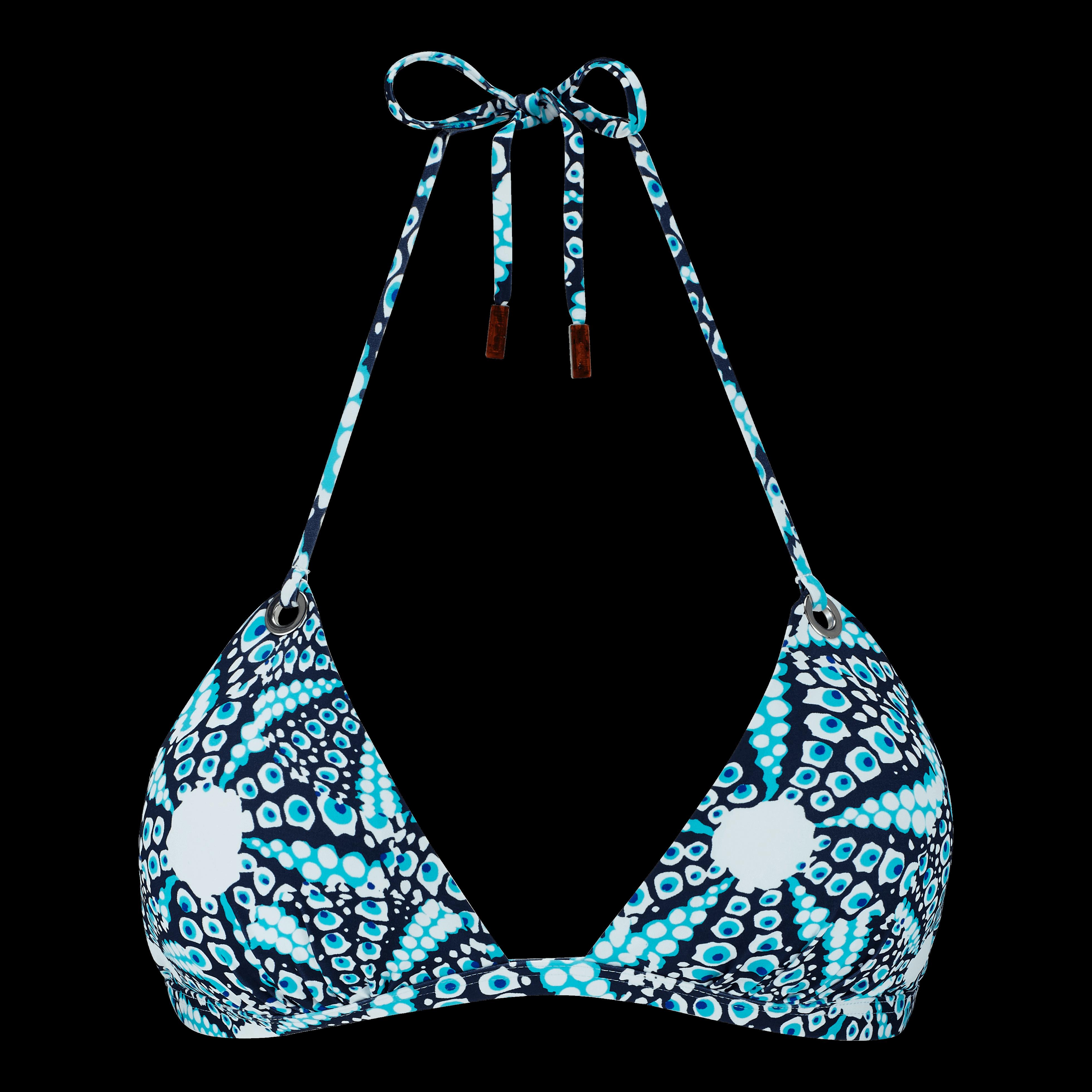 Women Swimwear - Women Triangle Bikini Top Oursinade - Swimming Trunk - Felina in Blue
