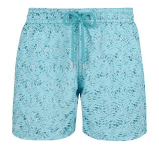 Men Classic Embroidered - Men Swimwear Embroidered Perspective Fish - Limited edition, Lagoon front