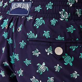 Men Classic Embroidered - Men Swim Trunks Embroidered Micro Ronde Des Tortues - Limited Edition, Sapphire supp2