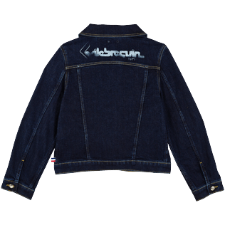 Boys Others Solid - Boys Trucker Jacket, Light denim w3 back