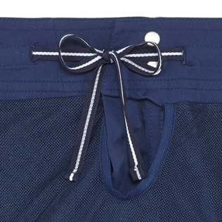Men Flat belts Solid - Men Flat Belt Stretch Swim Trunks Solid, Navy supp4